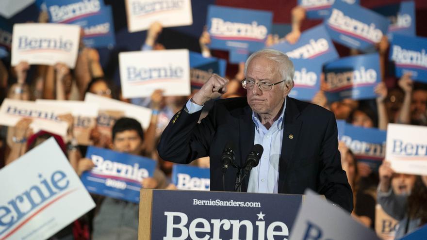 El candidato demócrata Bernie Sanders, en Texas
