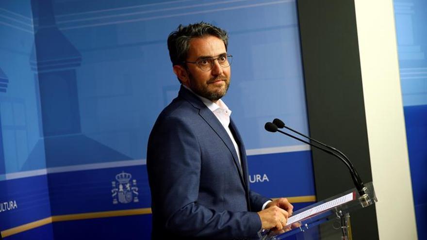 Màxim Huerta comunica en una rueda de prensa que dimite como ministro de Cultura