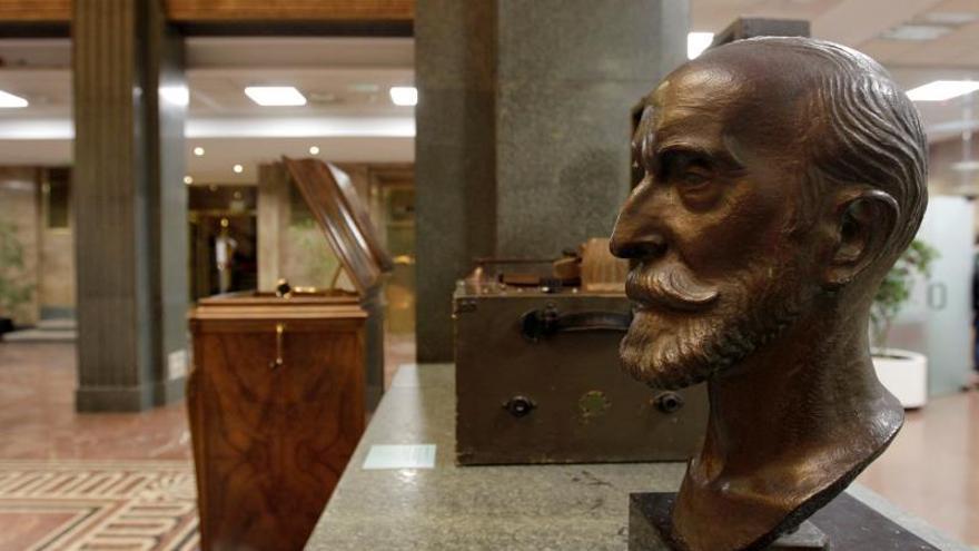 Exposición sobre los viajes del filólogo e historiador Ramón Menéndez Pidal, en el Instituto Cervantes.