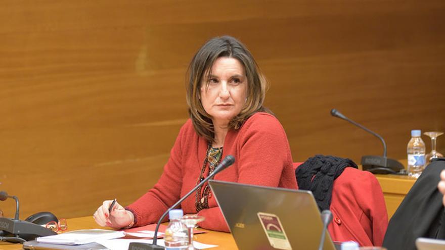 La diputada del PSPV-PSOE, Mercedes Caballero, en las Corts Valencianes.