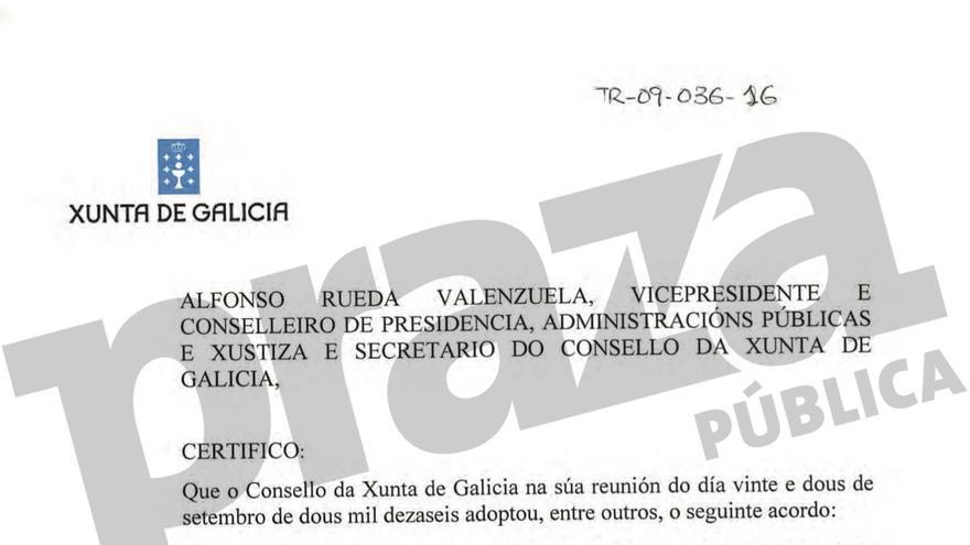 Modificación presupuestaria aprobada por el Consello da Xunta el 22 de septiembre de 2016