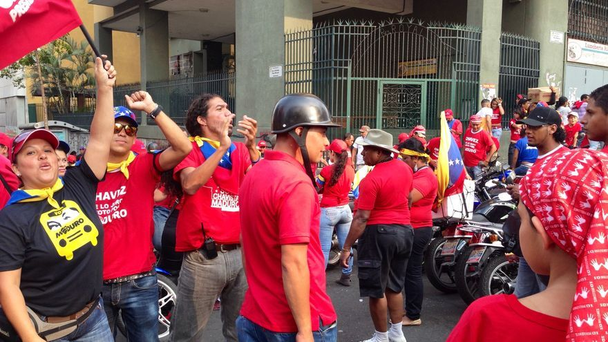 Seguidores de Maduro en las calles de Caracas (Foto: Olga Rodríguez)