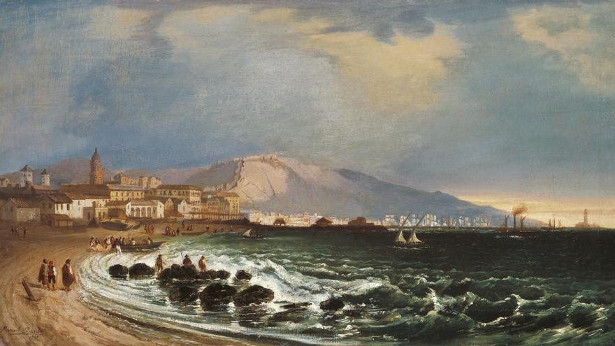 'Puerto de Málaga', de Manuel Barrón y Carrillo
