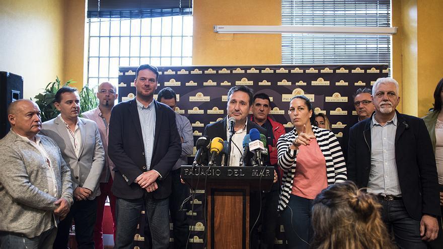 Comparecencia de Carrancio, González y Vielva ante los medios. | JOAQUÍN GÓMEZ SASTRE