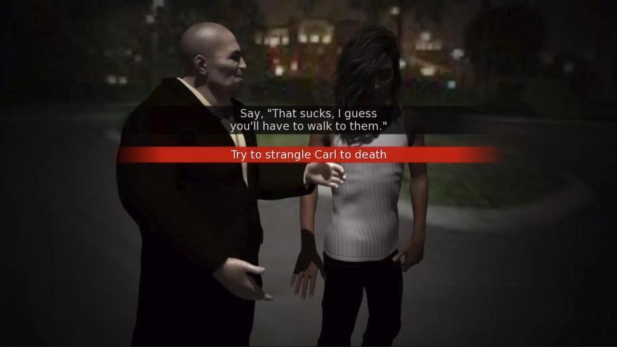 Uno de los diálogos de 'Rape day'