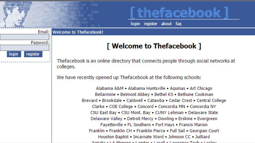 En 2005, The Facebook solo conectaba a algunos colegios mayores
