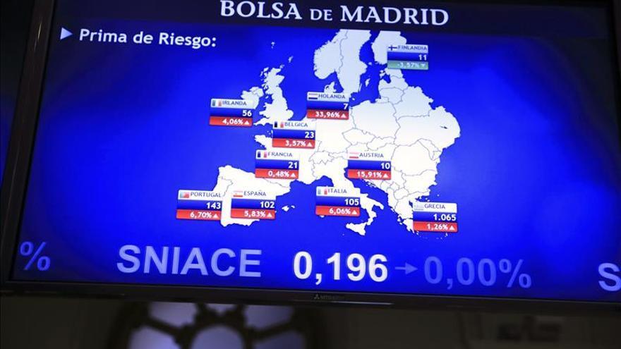 La prima de riesgo española sube a 101 puntos tras la caída del bono alemán
