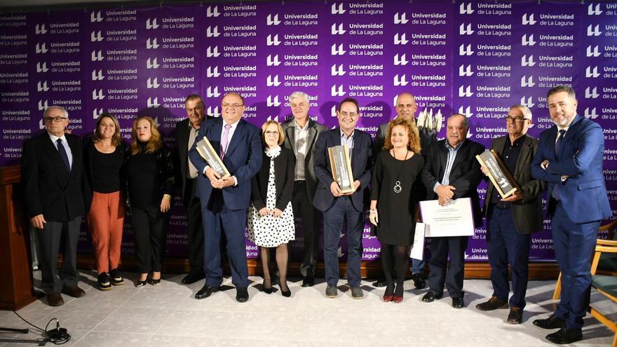 Galardonados  con los Premios Enogastroturismo de la Universidad de La Laguna (ULL).