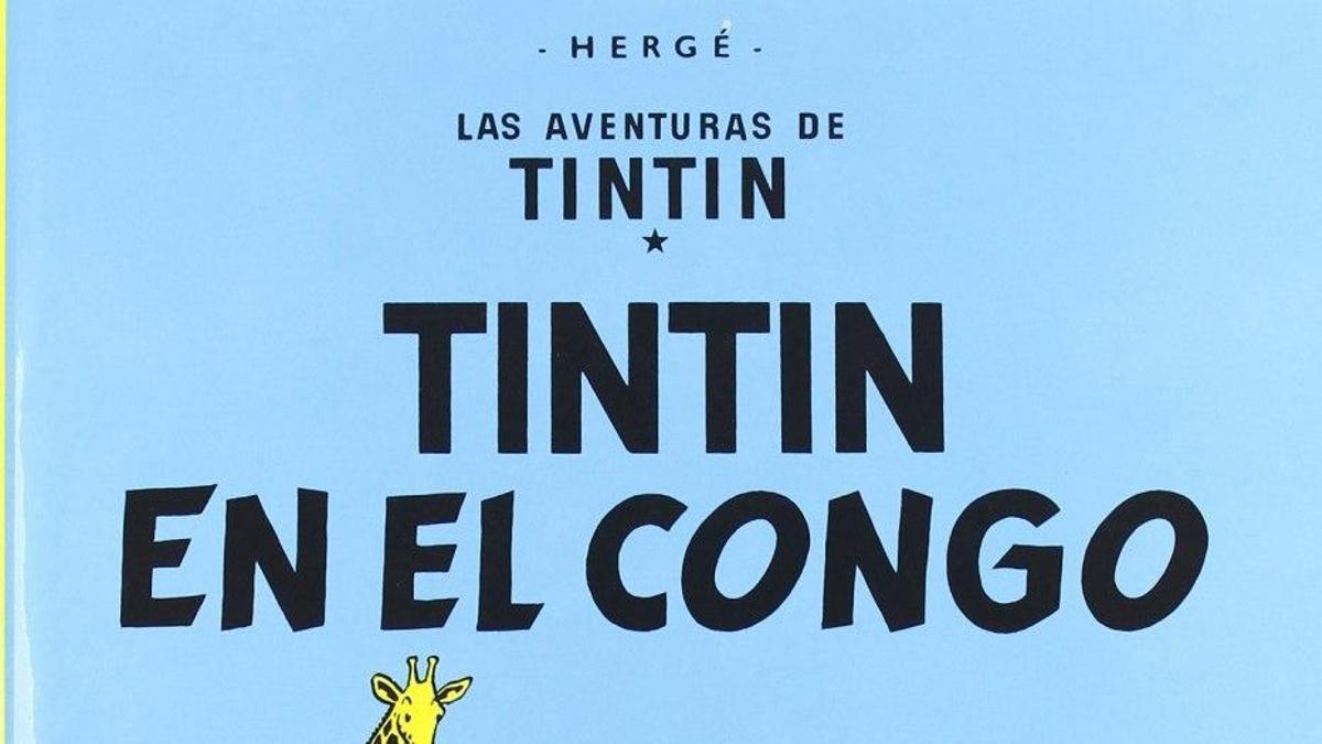 Portada de Tintín en el Congo.