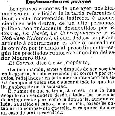 La Vanguardia refleja los mentideros de Madrid | Hemeroteca de La Vanguardia