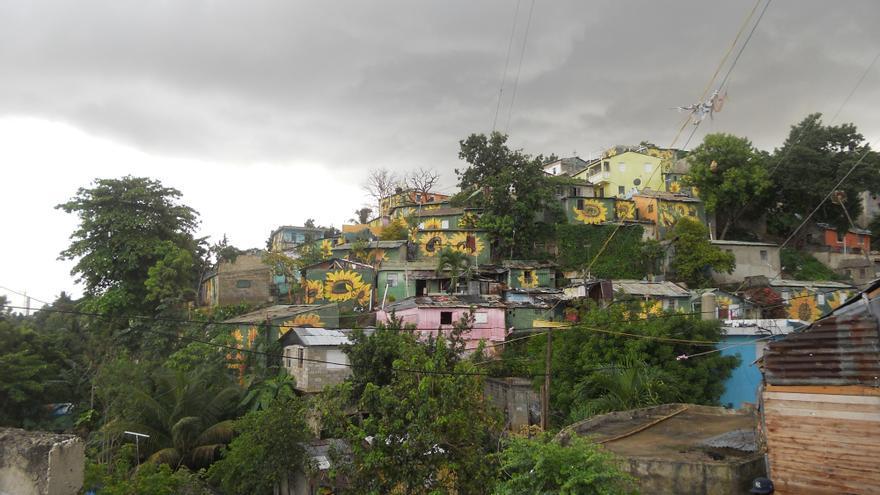 El barrio Simón Bolivar, junto a Santo Domingo, la capital de la República Dominicana. Imagen de Oxfam Intermón.