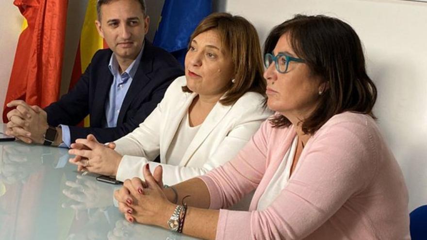 Sánchez, Bonig y Mut, en la rueda de prensa en la que han anunciado la presentación del recurso.