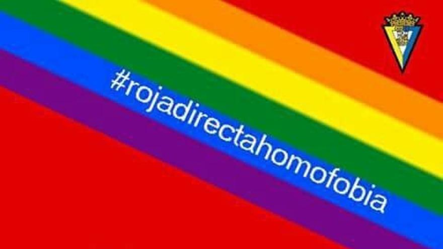 El Ayuntamiento se suma a la campaña 'Roja directa a la homofobia' que impulsa el Cádiz CF