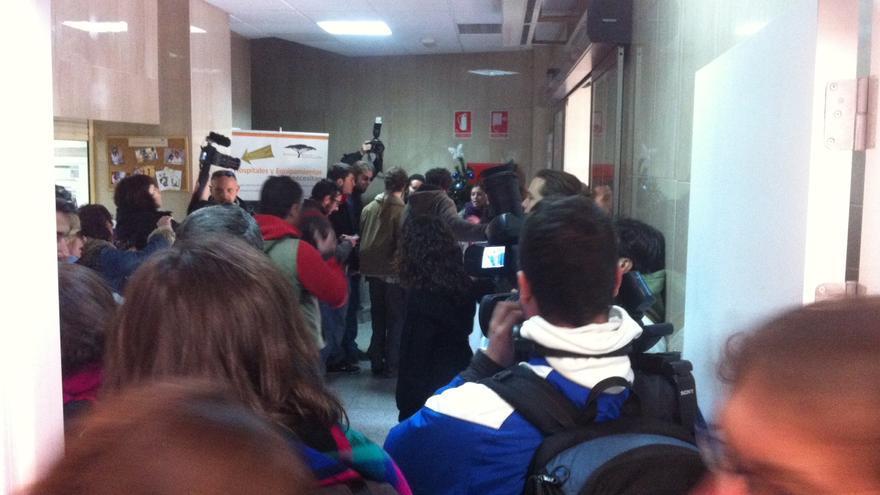 Activistas entran en Capio Sanidad (H.J.)