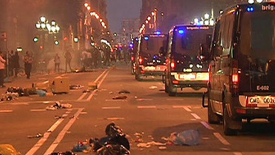 Disturbios en Barcelona durante el 29S
