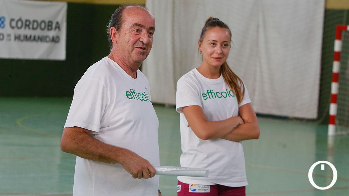 Rafa Moreno en un entrenamiento con el Itea Córdoba