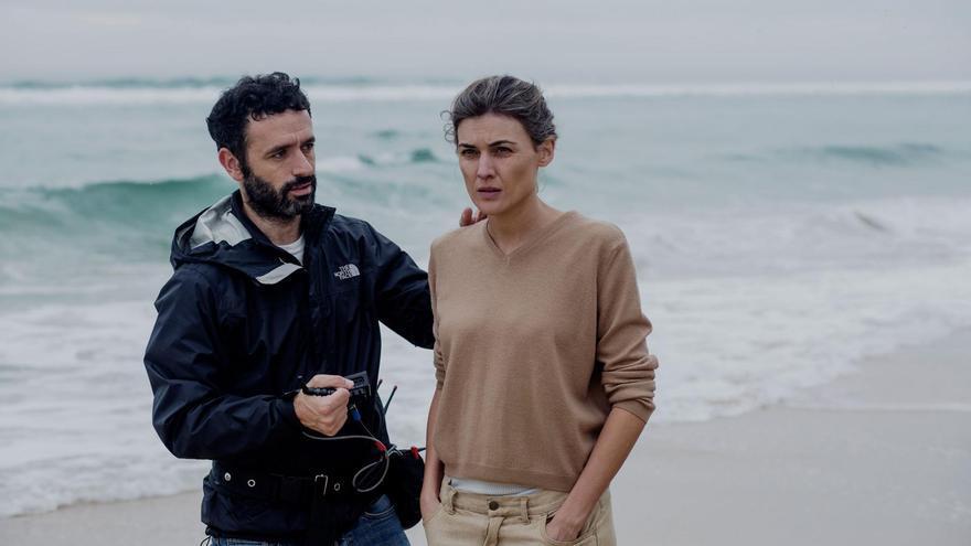 Marta Nieto y Rodrigo Sorogoyen trabajan una escena clave
