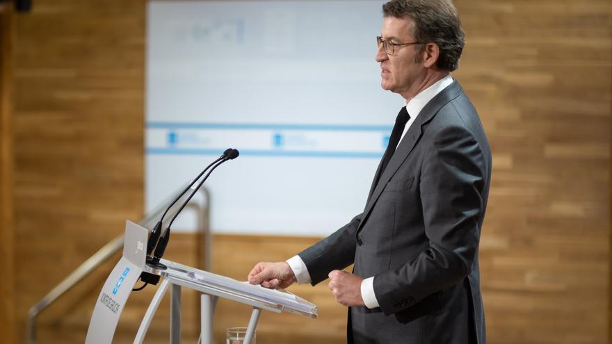 Rueda de prensa del presidente de la Xunta.
