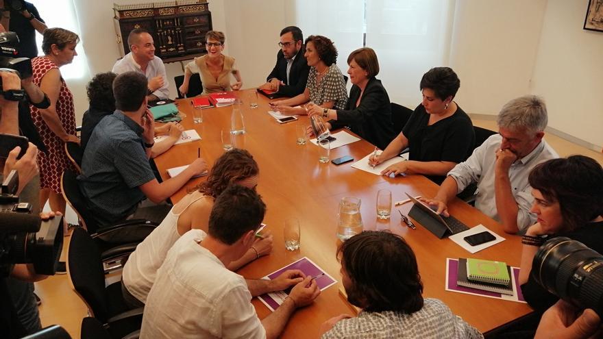 "PSN entrega a Geroa Bai, Podemos e I-E una propuesta de programa de gobierno y es ""optimista"" en llegar a un acuerdo"