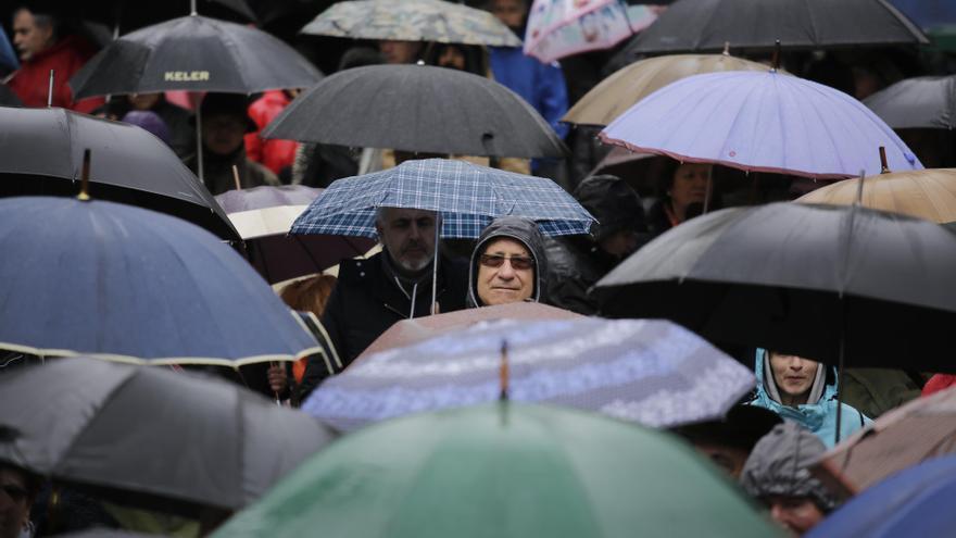 Manifestación por las pensiones, este sábado por la mañana en Madrid.