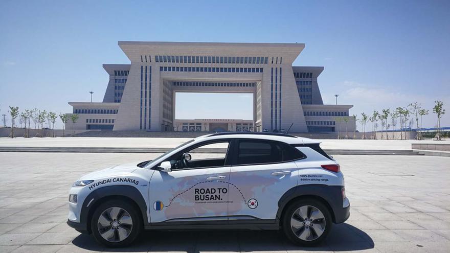 Road to Busan se ha convertido en el proyecto de Hyundai Canarias con el que se pone de manifiesto que los vehículos eléctricos no tienen limitaciones en ninguna parte del mundo.