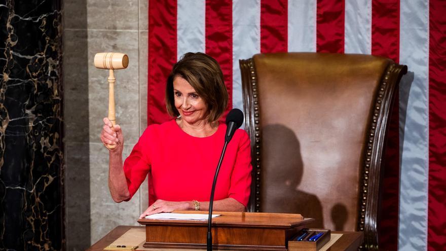 La nueva presidenta de la Cámara de Representantes de EEUU, la demócrata Nancy Pelosi.