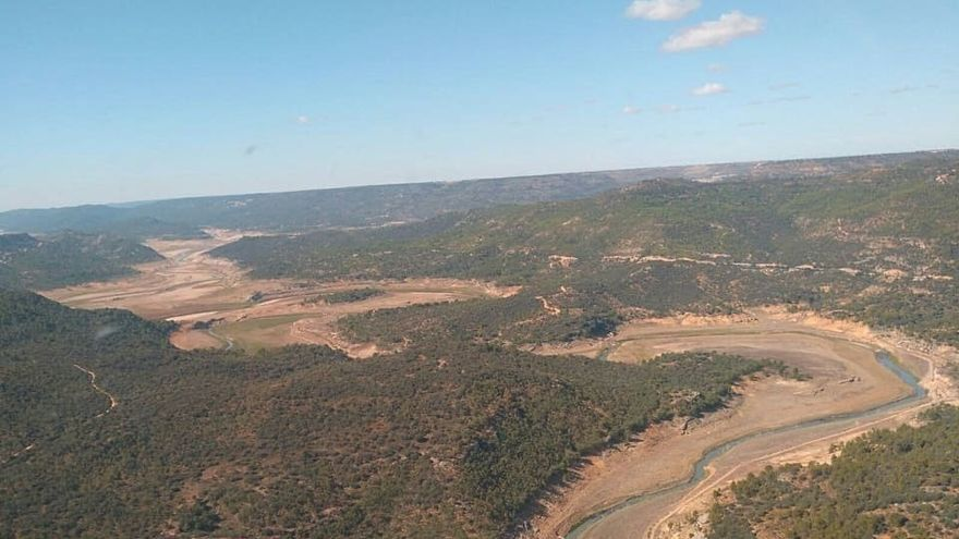 Estado de la cabecera del Tajo que no pasa del 9% de agua acumulada sobre su capacidad total