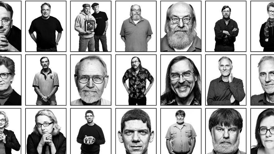 'Faces of Open Source' es un proyecto fotógrafico que ha reunido a muchos padres del 'open source'
