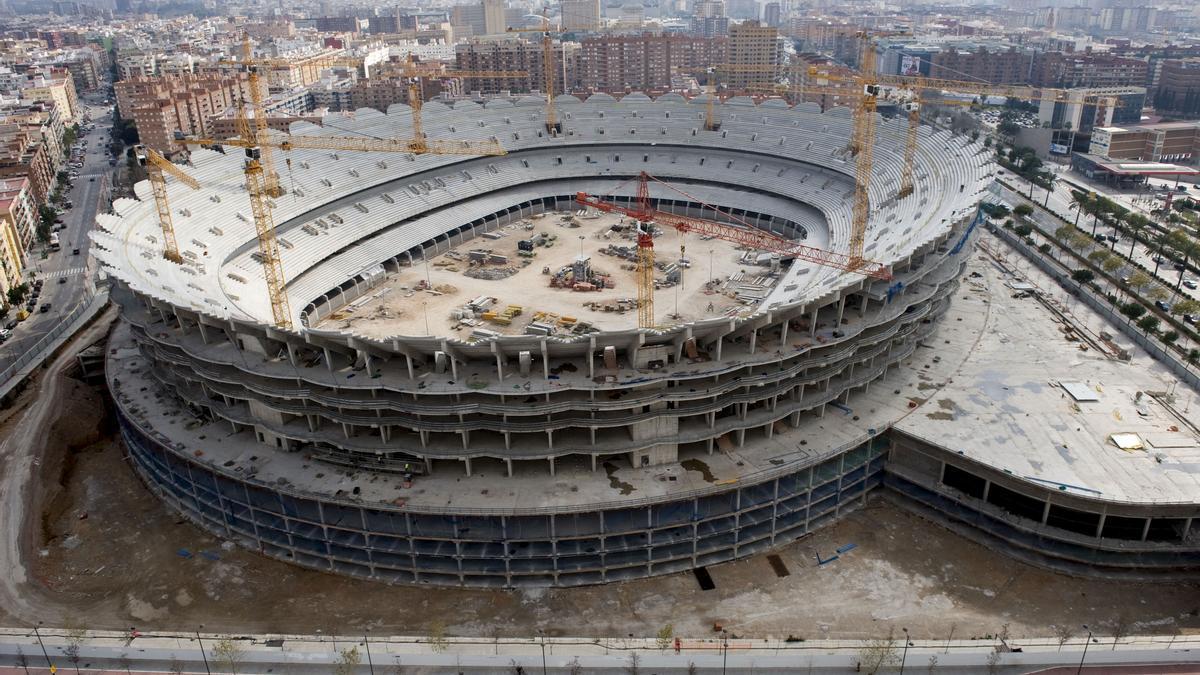 Las interminables obras en Mestalla / Imagen de archivo (EFE)
