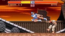 El personaje de Chun-Li en una pelea contra Ryu en 'Street Fighter II: The World Warrior'