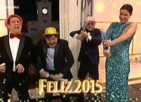 El guiño a Podemos en las Campanadas de Telecinco, con El Langui y Dafne Fernández