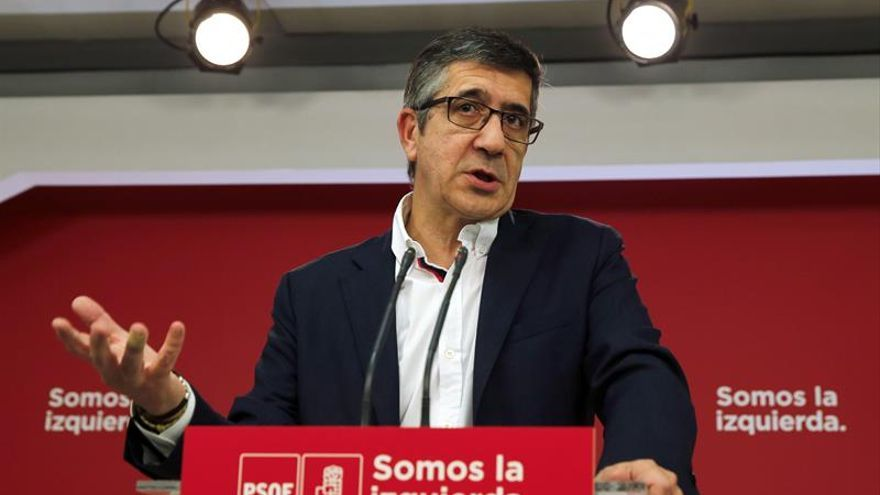 El responsable de Política Federal del PSOE, Patxi López.