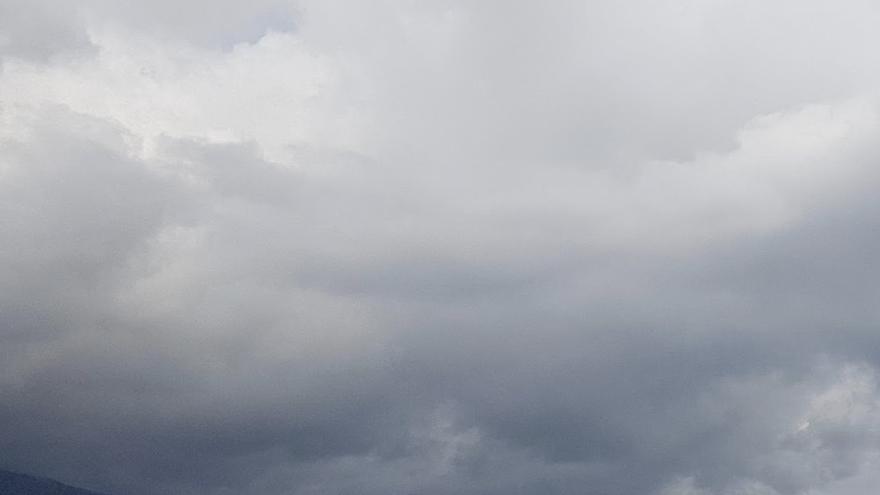 Nubes en el noreste de La Palma.
