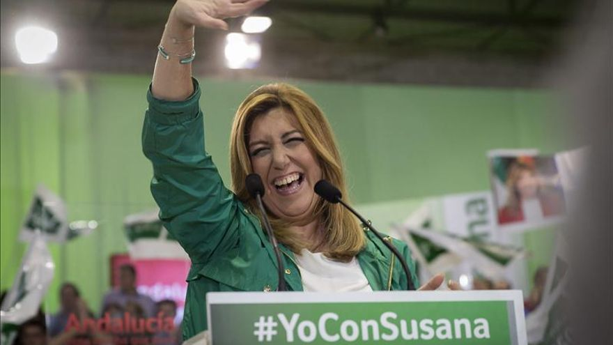 """Susana Díaz (PSOE) dice que Andalucía tiene """"un reto histórico"""" y va a estar """"a la altura"""""""