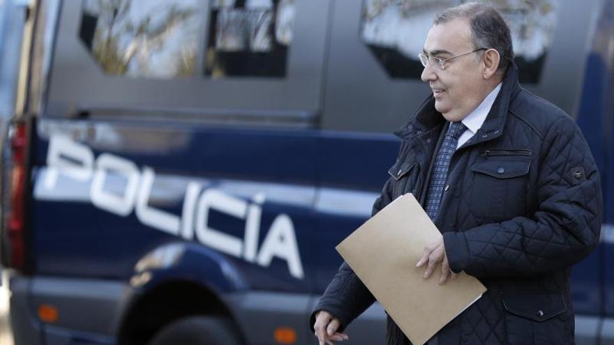 El exjefe de la Unidad Central de Apoyo Operativo (UCAO) de la Policía Enrique García Castaño, El Gordo, a su llegada a la Audiencia Nacional en una imagen de archivo