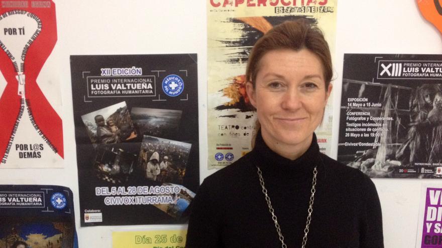 Pilar Ramírez, en la sede de Médicos del Mundo en Pamplona.