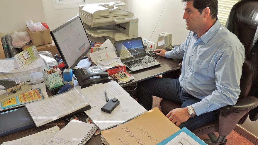 El presidente de la cooperativa de taxistas de Telde, Sebastián Alonso