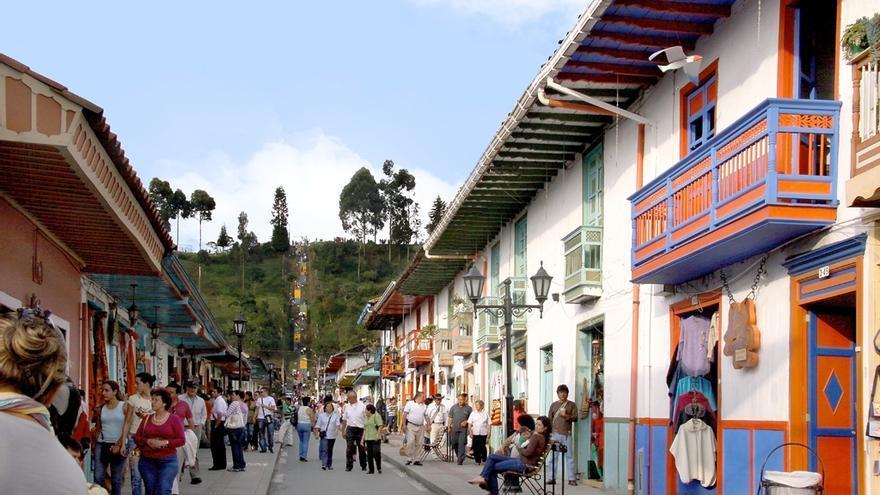 Calles de Salento, uno de los pueblos más bonitos del Eje Cafetero. Triángulo del Café Travel