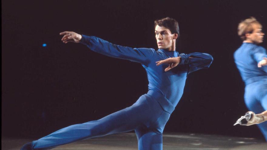 Imagen que aparece en el documental 'The Ice King', que relata la vida de John Curry, el primer atleta olímpico abiertamente gay