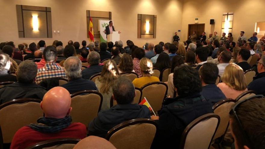 Un acto de Vox en Cartaya en las pasadas elecciones generales.