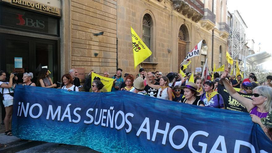 Manifestación en Italia