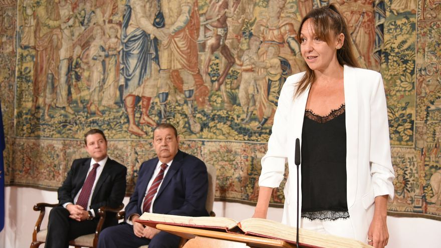 Inmaculada Herranz en su posesión de Gobierno de Castilla-La Mancha
