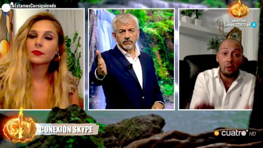 Carlos Sobera, por videollamada con Ivana y Avilés