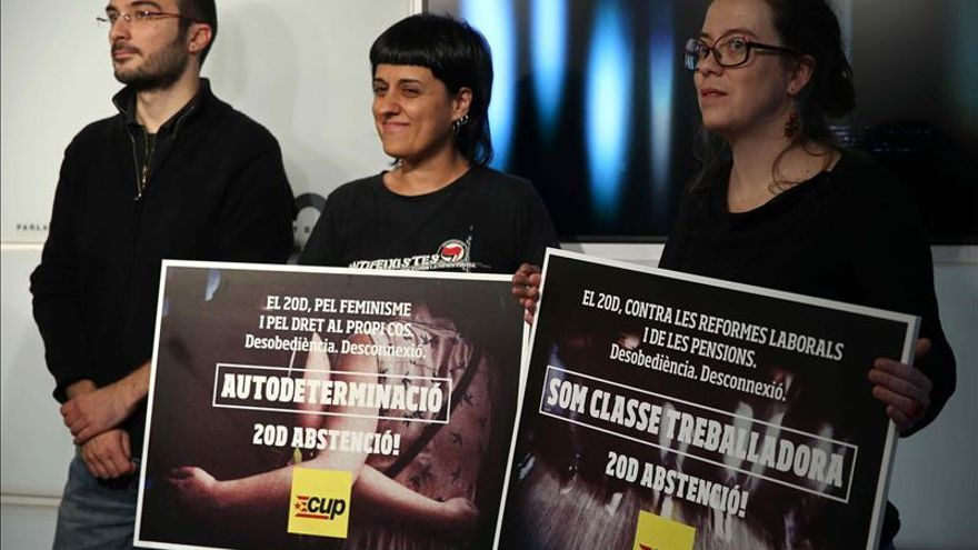 La CUP propugna la abstención el 20D y dice que la independencia no se negocia