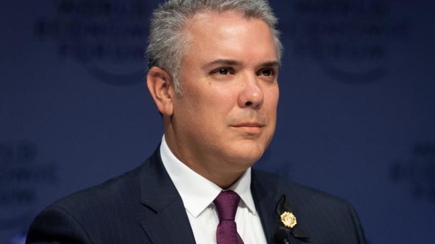 En la imagen, el presidente colombiano, Iván Duque.
