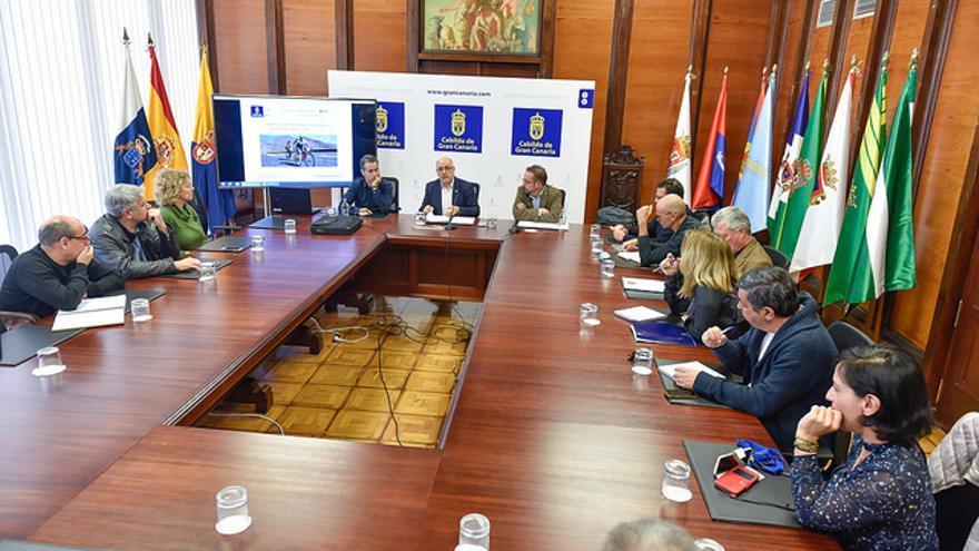 Acto de presentación del documento de Bases y Criterios para el Desarrollo Insular de la Bicicleta en Gran Canaria elaborado para el Cabildo grancanario.