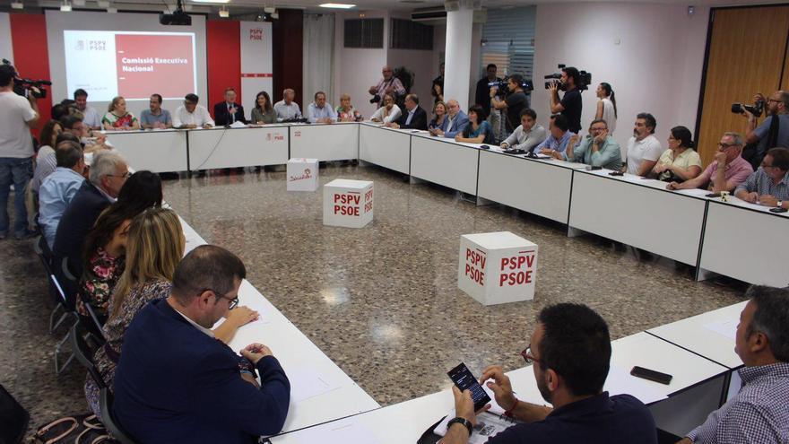 Ximo Puig ha presidido la ejecutiva del PSPV celebrada tras las elecciones del 26J
