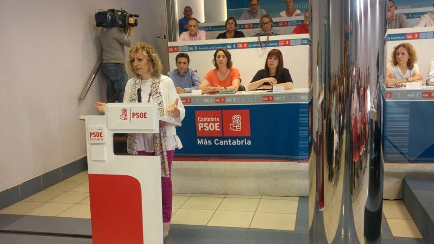 Díaz Tezanos ha sido la encargada de abrir el Comité Regional del PSC-PSOE.