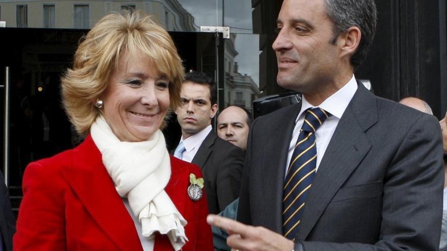 Esperanza Aguirre y Francsico Camps en sus buenos tiempos.