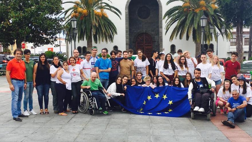 Grupo de jóvenes del Centro de Información Juvenil de Los Sauces.